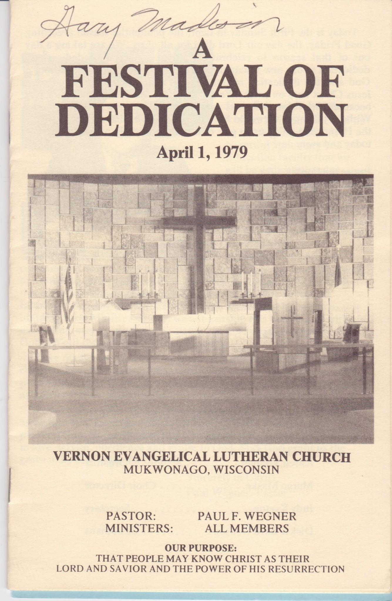Festival of Dedication April 1, 1979 001 – Vernon Evangelical
